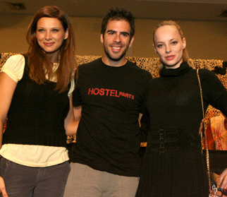 Eli Roth and two actors from Hostel II