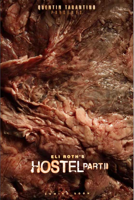 Hostel II movie poster with gory flesh