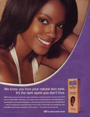Skin lightening ad