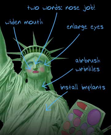 statue of liberty face drawing. A B O U T – F A C E — blog