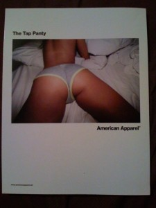 American Apparel Ad for Underwear?