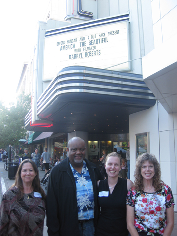 Carol Normandi (co-founder of Beyond Hunger), Darryl Roberts, me, and Laurelee Roark (co-founder of Beyond Hunger)