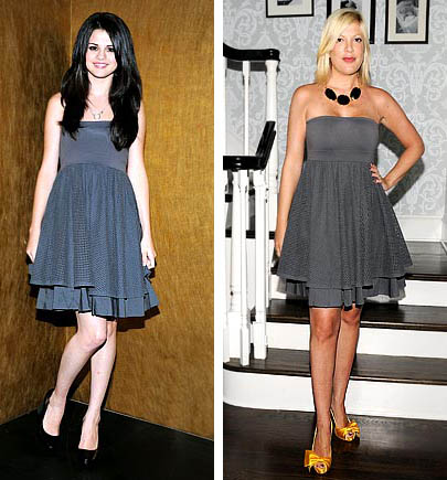 Selena Gomez and Tori Spelling