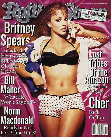 Britney Spears on the cover of Rolling Stone in 1999
