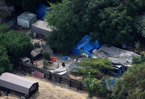 Phillip Gerrido's backyard, where Jaycee Dugard was held captive for 18 years.
