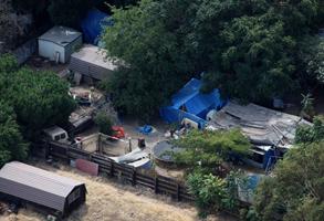 Phillip Gerrido's backyard, where Jaycee Dugard was held captive for 18 years.