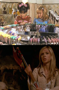 Shots from <em>Lizzie Mcguire</em> and <em>Buffy</em>