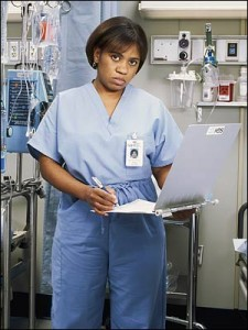 "Chandra Wilson as ""Dr. Bailey"" on <em>Grey's Anatomy</em>"