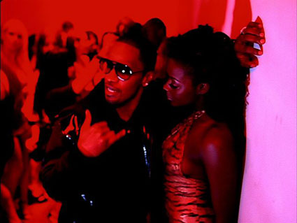 "A screenshot from Jamie Foxx's ""Blame It (On the Alcohol)"" video. The song and video present harmful ideas about women, drinking, and rape."