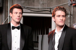The good guys of Glee: Finn and Will