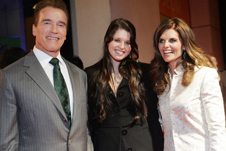 maria shriver children photos. Katherine with her famous mom