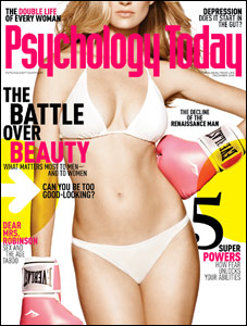 """Psychology Today"" bears a striking resemblance to ""Maxim"" this month."
