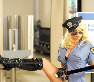 "Logan Airport wasn't on board with PETA's web ad, ""Cruelty Doesn't Fly,"" featuring Pamela Anderson."