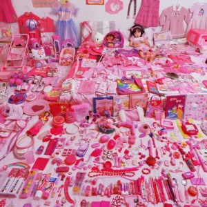 "An array of pink ""girliness."""