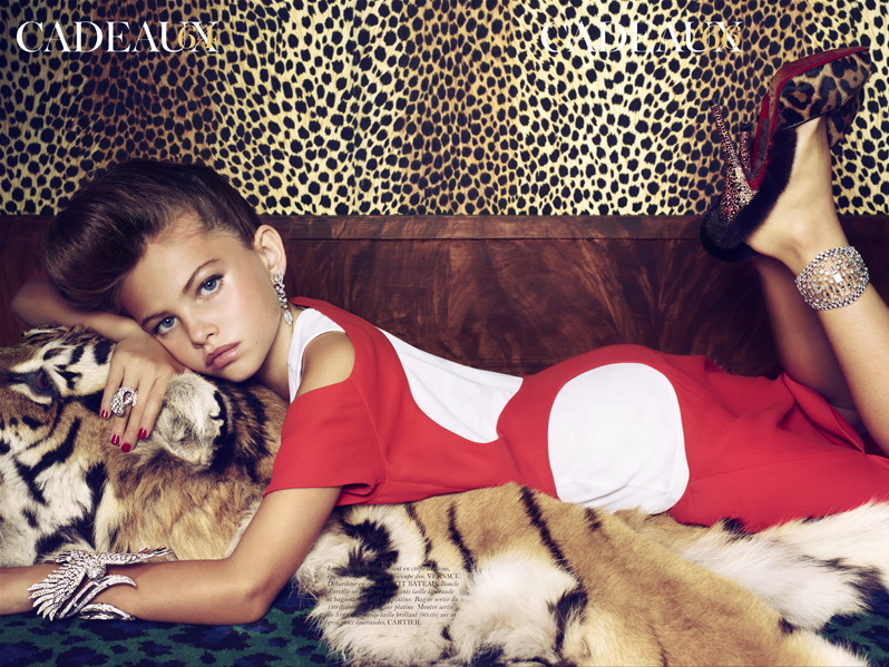 """Animal print: sexy at all ages! At least """"French Vogue"""" thinks so."""