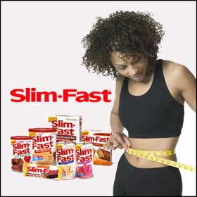 Slim Fast encourages shedding pounds (and inches) as fast as possible.