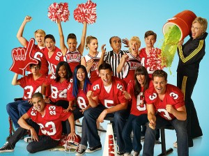 "Everyone's free to sing on ""Glee,"" but only the boys can play football."
