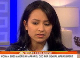 Former American Apparel employee Irene Morales appeared on the Today show to discuss her lawsuit against founder, Dov Charney.