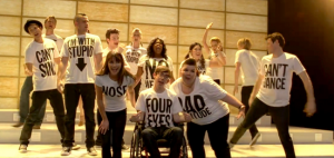 "The cast of ""Glee"" sings the praises of individuality in Tuesday night's ""Born This Way"" episode."