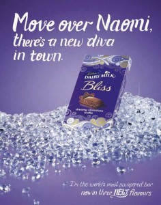 The Cadbury ad that caused Naomi Campbell to cry racism.