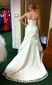 ...and finds a better fit with dress #2.