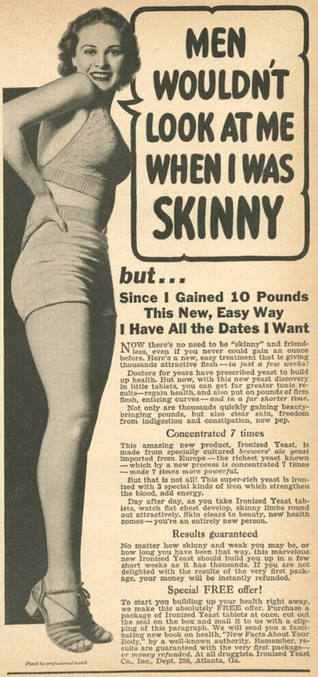 1940s ads: Fat-shaming is rooted in skinny-shaming | About ...