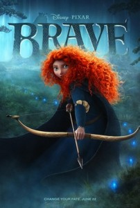 Movie poster for Brave.
