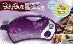 Picture of Easy Bake Oven box, purple and pink.