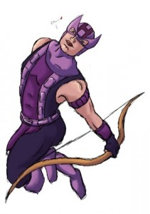 The Hawkeye Initiative makes comics readers look twice at typical feminine poses (art by hawaiianpld on Tumblr).