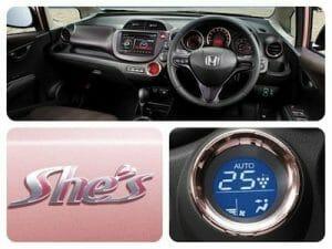 Interior view of the Honda She's.