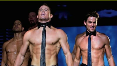 Image of shirtless men in the movie Magic Mike.