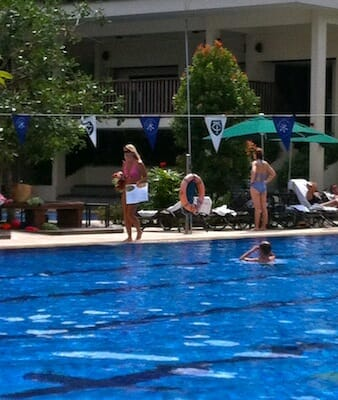 """Yummy Mummies"" at pool."