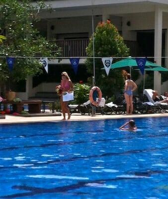 """Yummy Mummies"" at pool."