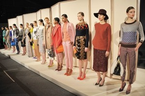 Photo of J.Crew models from New York's Fashion Week.
