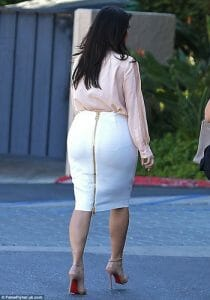 Photo taken of Kim Kardashian from behind.