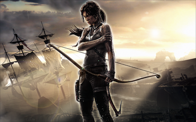 Image of the new version of Lara Croft.