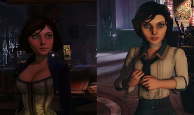 Elizabeth's two outfits in the game.