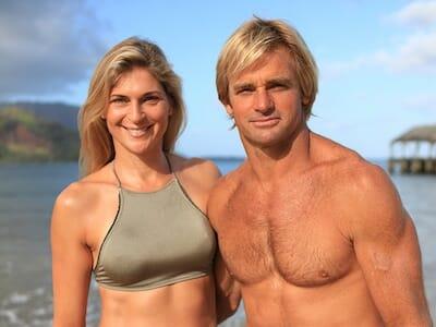 Photo of Gabby Reece and husband Laird Hamilton.