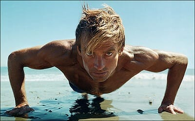 Laird Hamilton on surf board.