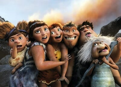 Image of Crood family from film The Croods.
