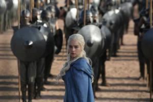 Daenerys Targaryen of Game of Thrones.