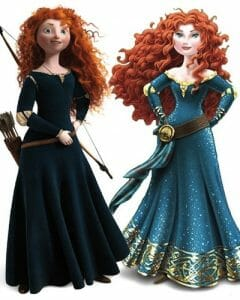 Left: The Original Merida, Right: The New Merida.