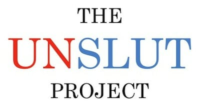 The UnSlut Project text logo from Tumblr page.