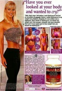 Weight loss ad.