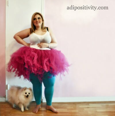 Photo of woman in tutu for Adipositivity Project.