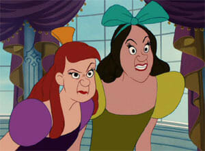 The Ugly Stepsisters are physically AND morally less attractive than Cinderella— anyone else seeing the pattern?
