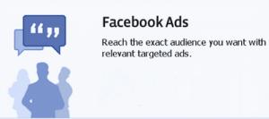Screenshot of Facebook advertisement ad.