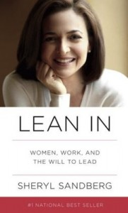 Book cover for Sheryl Sandberg's Lean In.