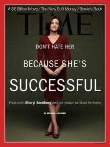 Sheryl Sandberg on the cover of TIME magazine.