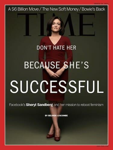 Sheryl Sandberg on the cover of TIME magazine.